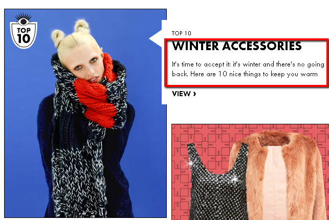 weather interaction on fashion e-shops