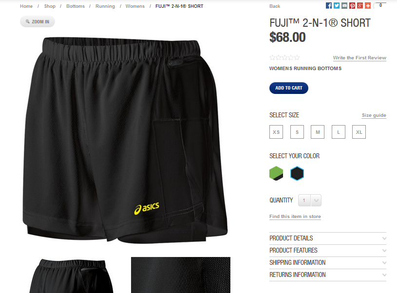 great product pages from sports apparel e-shops