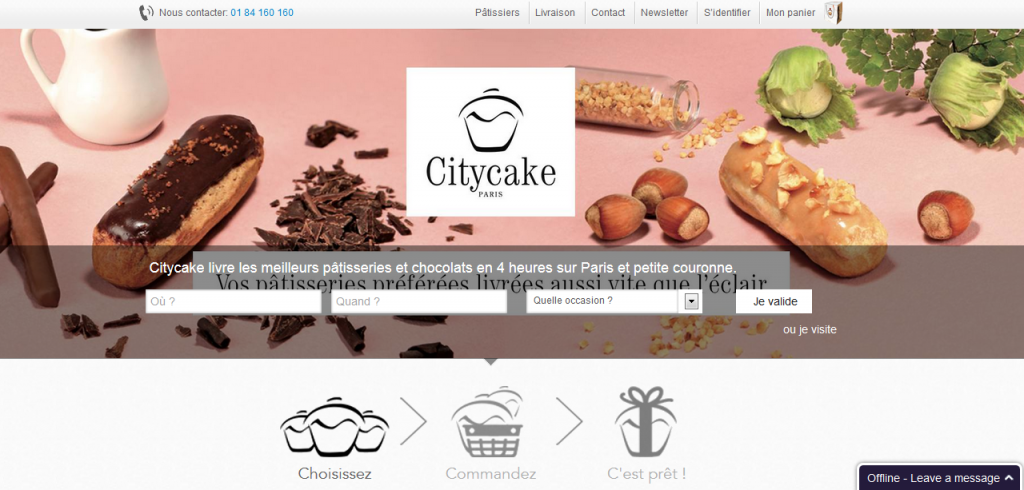 Increase conversions for local businesses - citycake.fr example