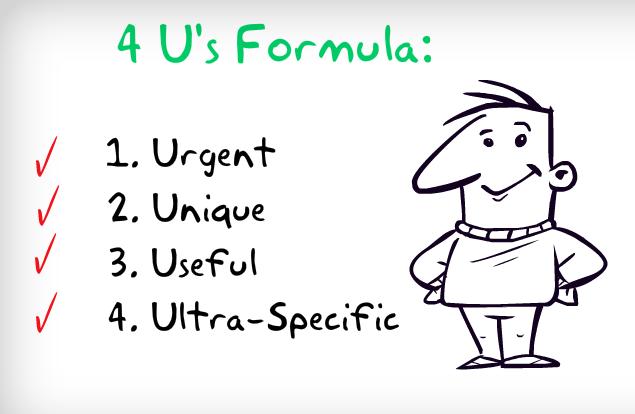 The 4Us headlines formula