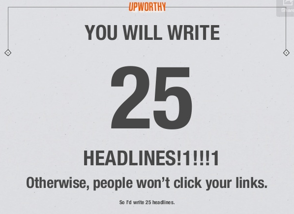 UpWorthy Headline Writing Process