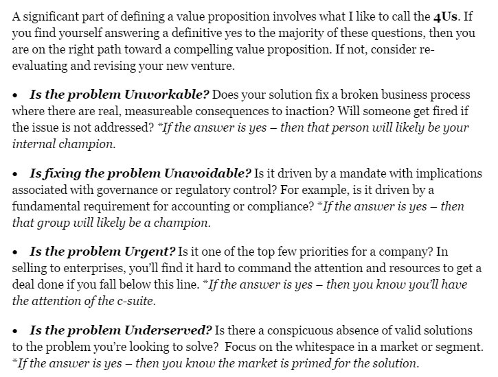 What You Should Know About Creating An Effective Value Proposition W