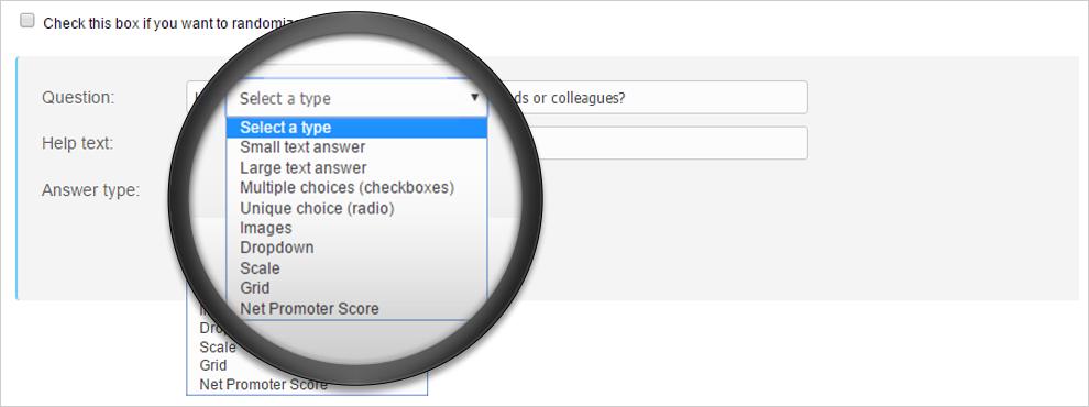Net Promoter Score survey