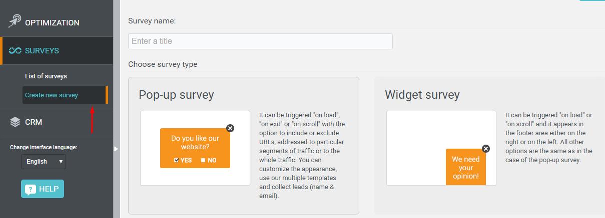 website feedback survey