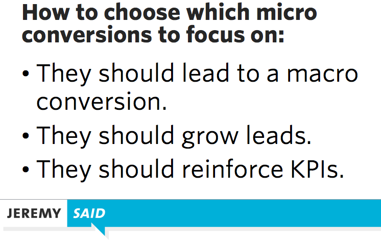 Micro-conversion examples