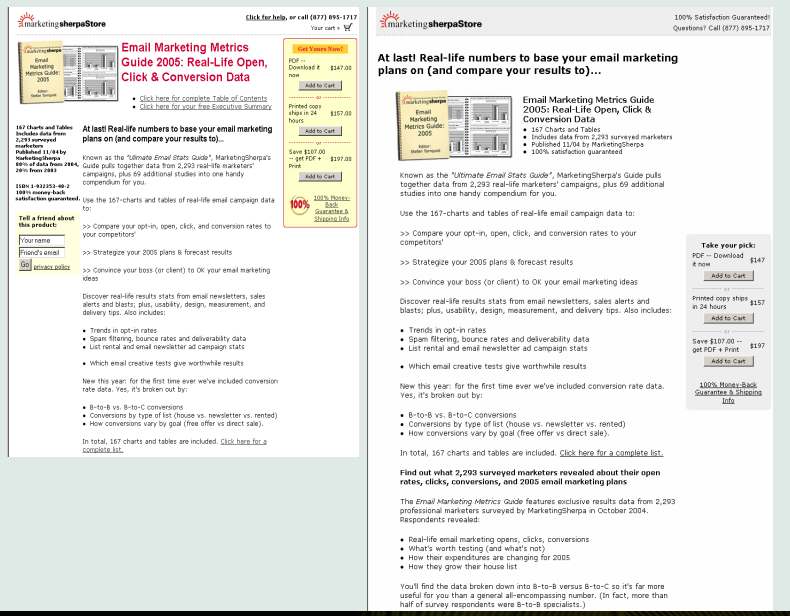 History of Landing Page, How Landing Pages Looked Like in 2005