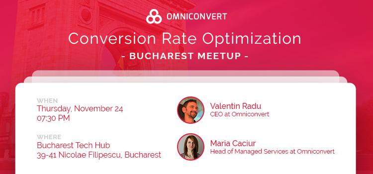 Conversion rate optimization – Bucharest Meetup