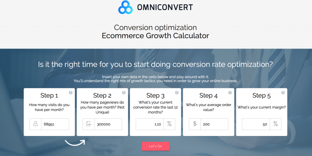 Ecommerce growth calculator