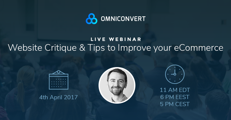 Live critique webinar for eCommerce websites