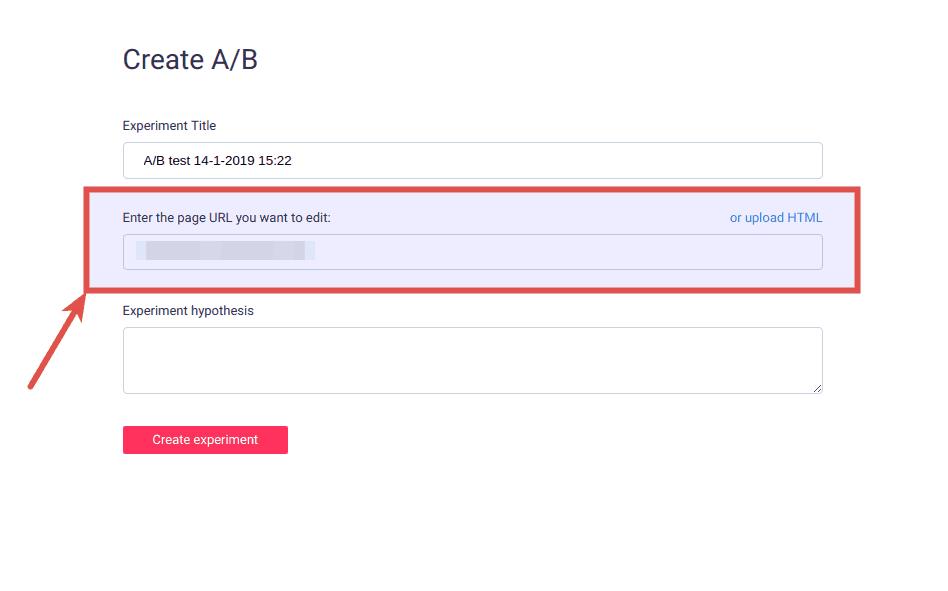 a b test load url