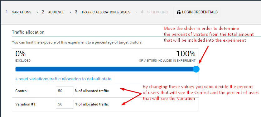 a b test traffic allocation