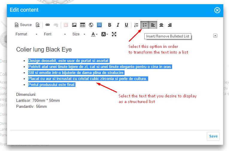experiment edit copy text list