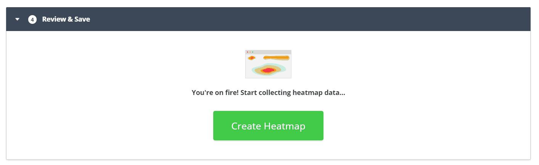 hotjar publish heatmap