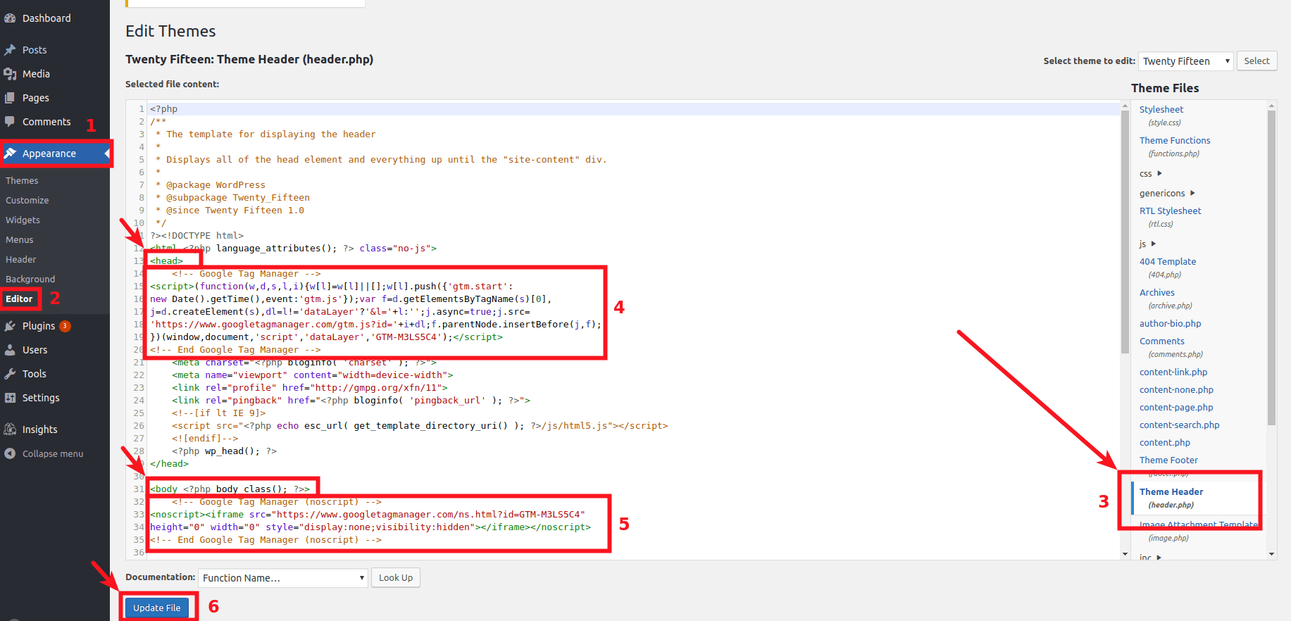 how to insert gtm code
