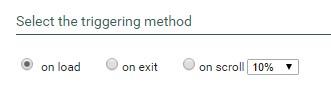 select triggering method