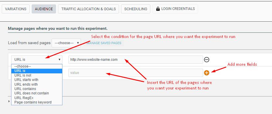 survey audience url