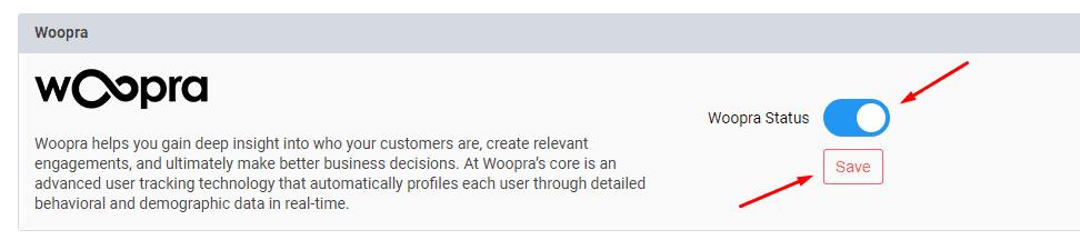 woopra integration
