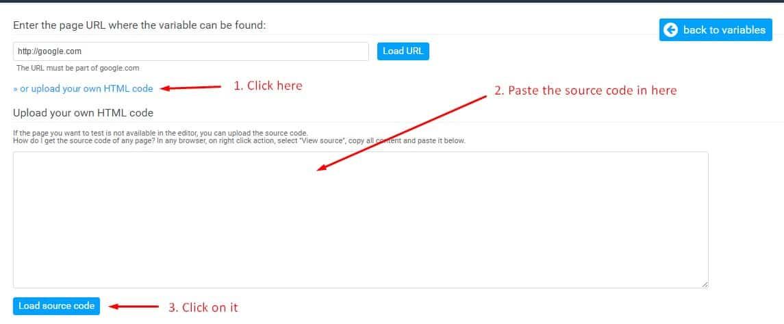 omniconvert upload own html