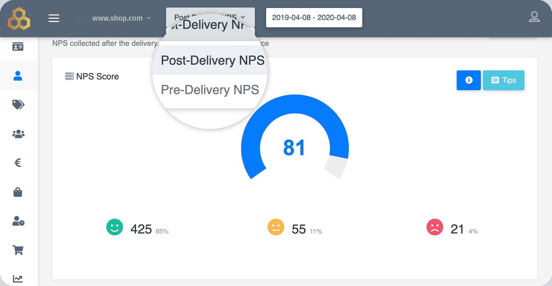 Customer Voice Net Promoter Score